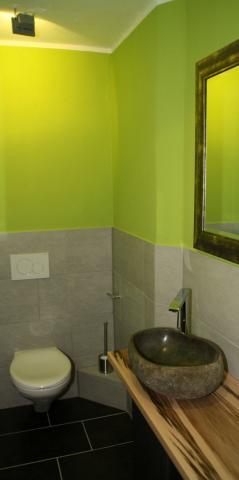 Die renovierte Toilette